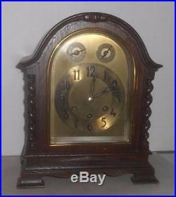Antique Gustav Becker Westminster Chime Bracket Mantel Clock Working Germany
