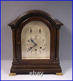 Antique Gustav Becker Westminster Chime Mantel Shelf Bracket Clock WORKS 1926