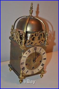 Antique Gustav Becker shelf lantern clock with 5 bell Westminster chime