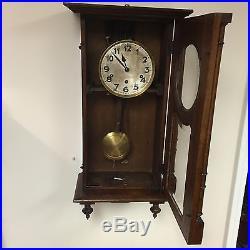 Clock hamburg movement american Vintage Wooden