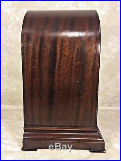 Antique Herschede Bracket Clock Beehive Clock Mahogany Case Westminster Chimes