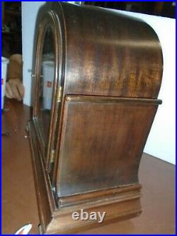 Antique-Herschede-Westminster Chime Mantle Clock-Ca. 1920-To Restore-#F129