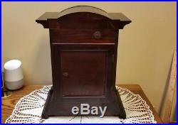 Antique JUNGHANS German Mantle Bracket Clock Westminster Chimes Runs TLC Needed