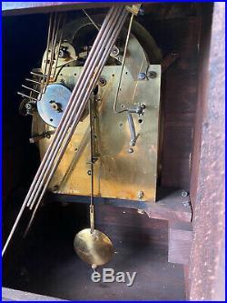Antique JUNGHANS Mahogany Westminster Chime Shelf Mantel Clock