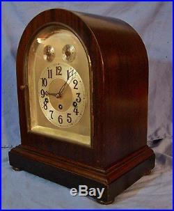 Antique JUNGHANS Westminster Chime Mantel Mantle Clock #17112 Manhattan repair