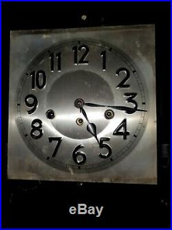 Antique Junghans Beveled Glass 8 Westminster Chime Wall Clock w Key