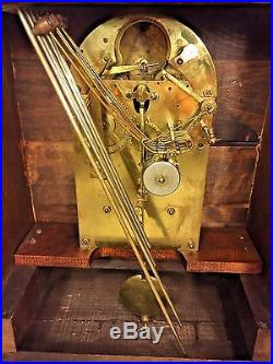 Antique Junghans Bracket Clock Westminster Chimes Runs Strikes and Chimes 1908