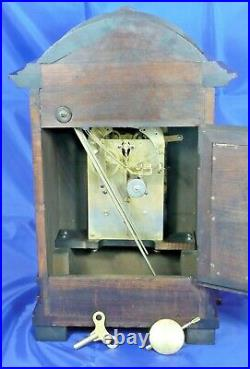 Antique Junghans Carol Westminster Mantel Clock. Fully Serviced and Tested