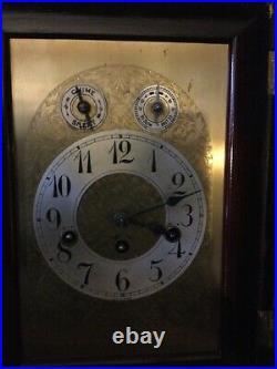 Antique Junghans German Westminster Chime Bracket Clock works! 1914