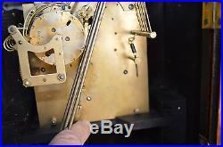 Antique Junghans German Westminster Mantle Clock-Runs & Stops. Chimes Working