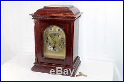 Antique Junghans Mantle Clock Quarter-Hour Westminster Chime A10 Movement Works