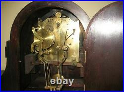 Antique Junghans Tambour 8 Day Westminster Chime Bracket Clock As-is Runs