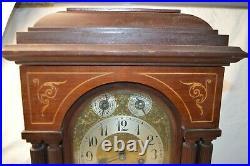 Antique Junghans Westminster Chime Bracket Mantle Clock B12 Movement Column Case