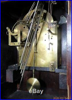 Antique Junghans Westminster Chime Clock Circa 1900