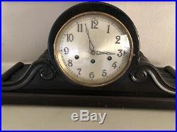 Antique Junghans Westminster Chime Clock Gibraltar No 17178 Wood Mantle Clock