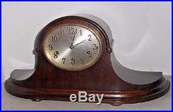 Antique Junghans Westminster Chime Fancy Tambour Clock A 42 8day Germany Working