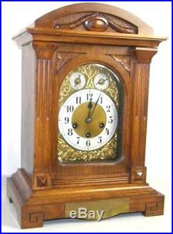 Antique Junghans Westminster Chime Mantel Bracket Clock