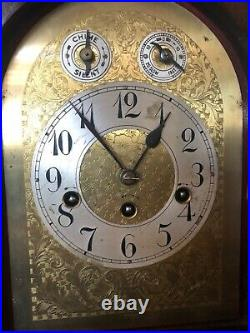 Antique Junghans Westminster Chime Mantel Clock Deco Style