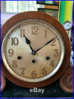 Antique Junghans Westminster Chime Mantle Clock