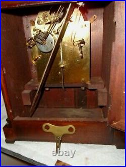 Antique-Junghans-Westminster Chime-Mantle Clock-Ca. 1910-To Restore-#E939