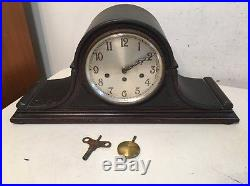 Antique Junghans Westminster Chime Tambour Clock B25 Movement