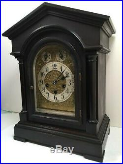 Antique Junghans Westminster Chimes 8 Day Bracket Clock Germany Works Great