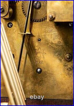 Antique Junghans Wood Mahogany Westminster Chime Bracket Mantle Shelf Clock