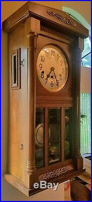 Antique Keinzle Westminster 8-hammer Orgel Gong Hourly & 15m Chiming Wall Clock