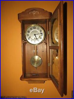 Antique Kienzle Quarter Hour Westminster Chime Wall Clock, 8-day, Time/chime