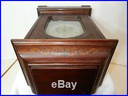 Antique Large German Junghans Bracket Mantle Clock With Westminster Chimes