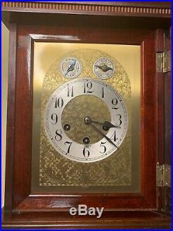 Antique Large Junghans Mahogany Bracket Mantel Shelf Clock Westminster Chimes