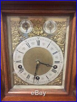 Antique Lenzkirch Large Walnut Cased Bracket Clock Westminster Chime 5 Gongs