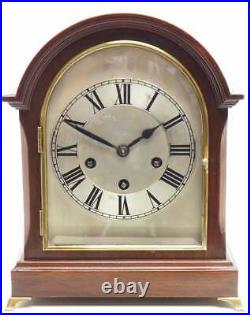Antique Mahogany Mantel Clock Westminster Chime Musical Bracket Chiming Germany