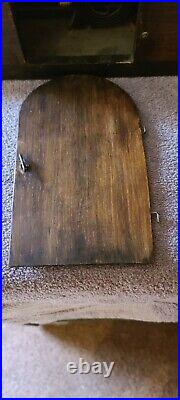 Antique Mahogany Waterbury Tambour Mantle Shelf Westminster Gong Chime Clock
