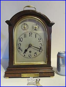 Antique Muller Westminster Mahogany Bracket Chime Clock With 8 Chime Rods. C1925