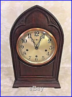 Antique New Haven Bee Hive Cathedral Clock Westminster Chimes Running