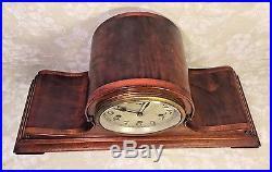 Antique New Haven Tambour Case Clock Rare & Unique Case Westminster Chimes Runs