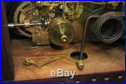 Antique New Haven Westminster Chime No 4 Clock 1910 Rare Double Mechanism /Runs