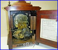 Antique New Haven Wilcox Patent Westminster Chime Bracket Clock Working