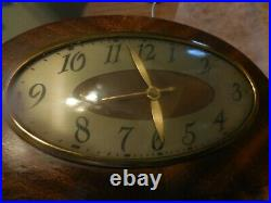 Antique Revere Electric Westminster Chime Clock Self Starting Model R-947 WORKS