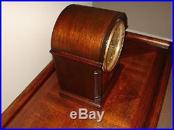 Antique SETH THOMAS Shelf Mantle Clock Mahogany Case Westminster Chime SUPERB