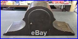 Antique SETH THOMAS Westminster Wood Mantel Clock & Key Vtg No 90 Chime Mvmt 124