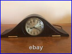 Antique Sessions Mantle Clock Solid Wood Works Great Westminster Chime