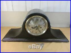 Antique Seth Thomas 113 Westminster Chime Model 80 Mantel Clock w Key & Pendulum