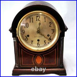 Antique Seth Thomas #24 Westminster Chime 8-day Inlayed Shelf Clock Bonnet Top