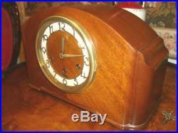 Antique Seth Thomas Mantle Clock Westminster Chime-Art Deco Design-Works Great