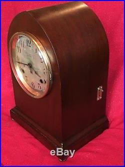 Antique Seth Thomas Sonora #14 5 Bell Quarter Hour Westminster Chime Clock Runs