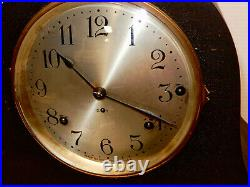 Antique Seth Thomas Westminster Chime Large Tambour Clock Runs Chimes Well