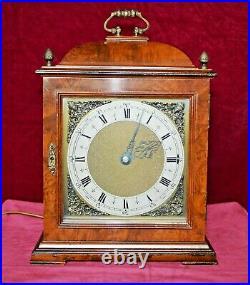 Antique Smiths Figured Walnut Westminster Chime Electric Bracket Clock