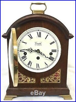 Antique Style COMITTI LONDON Mahogany Bracket Mantel Clock WESTMINSTER CHIMES